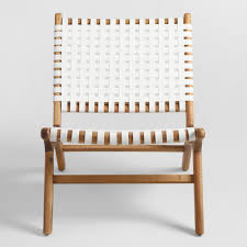 White Chair White Strap Girona Accent Chairs Set Of 2 World Market