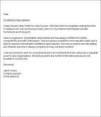 doc 7281031 character letters of recommendation u2013 sample