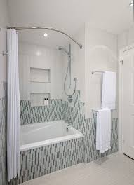 Bathroom Shower Rod Pretty Curved Shower Rod In Bathroom Contemporary With Curved