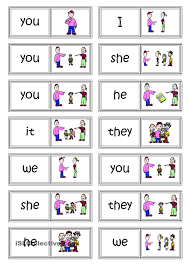 Personal And Possessive Pronouns Worksheet Subject Pronouns Domino Games Pinterest English English