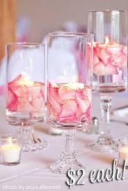 Cute wedding vase flower idea perfect for a cheap wedding on a