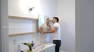 Bathroom Mirror With Shelves Modern Ep94 Diy Sliding Bathroom Mirror