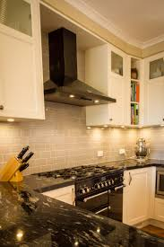appliances range hood cover mounted hanging pot rack light blue