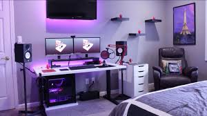 pc gaming desk setup as well turquoise bedroom ideas together with