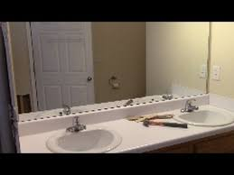 How To Remove Bathroom Mirror How To Remove Mirror Off Wall Safely Youtube