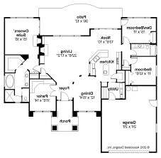 mediterranean floor plans with courtyard house plans with