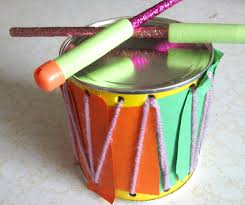 crafty couple how to make a drum musical instrument set for kids