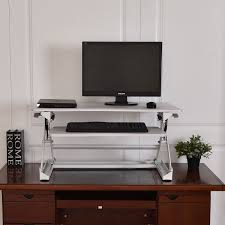 Height Adjustable Computer Desks by Height Adjustable Office Computer Desk Sit Stand Desktop Lap