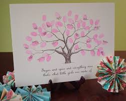 baby thumbprint tree guestbook poster baby shower baby