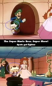 super mario bros super show 1989 tv mistakes goofs