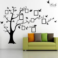 2 5m removable memory tree picture frames wallpaper photo wall 2 5m removable memory tree picture frames wallpaper photo wall stickers decor bird room wall black
