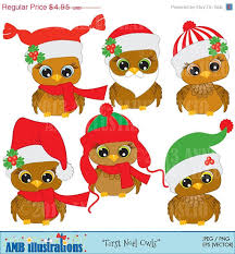 80 off cute christmas baby owl for clipart by ambillustrations
