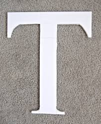monogram letter t diy faux flower monogram