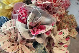Fabric Flowers Snowybliss Long Stemmed Fabric Flowers