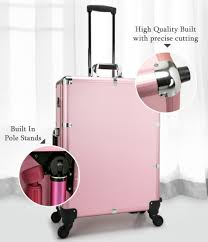 Professional Makeup Stand Rose Gold Professional Make Up Artist Trolley Studio Light Stand
