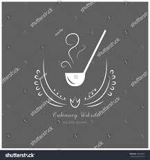 vector emblem cooking soup ladle ornaments stock vector 460260997