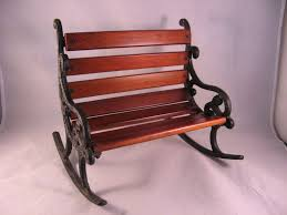 Outdoor Rocking Chairs For Heavy Vintage Large Doll Rocking Chair For Two In Cast Iron U0026 Wood