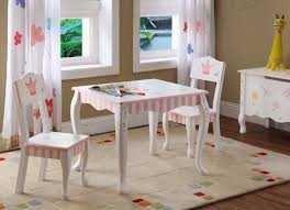 White Kids Desk And Chair Set by Wooden Table And Chairs For Kids Homesfeed