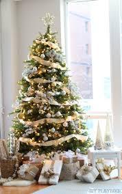 a gorgeous gold silver glamorous tree
