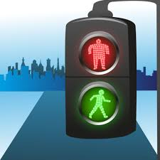 stop and go light pedestrian traffic light with stop and go indicator vector stock