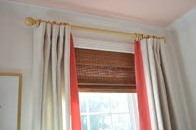 Coral And Gray Curtains Bungalow Blue Interiors Home Curtain Rod Is 1 3 4 Inch Dowel