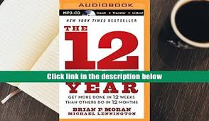 the 12 week year book audiobook ignite the the secrets to building a successful