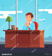 Boss Reception Desk by Executive Manager Ceo Big Boss Sitting Stock Vector 604688567