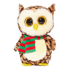 ty beanie boos small wise owl soft toy claire u0027s beanie