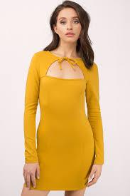 yellow dress black dress bolo tie dress marigold dress bodycon dress