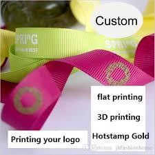 personalized ribbon printing a roll 100 yards thread belt custom logo diy grosgrain ribbon belt