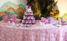 pink rosette table runner satin ribbon rosette baby shower tablecloth cake table candy