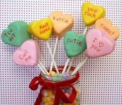 heart candy sayings conversation heart pops sweet simple stuff