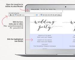 wedding program size wedding ceremony program templates wedding templates and printables