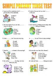 simple present tense test worksheet by murat