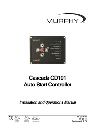 cascade cd101 auto start controller installation and