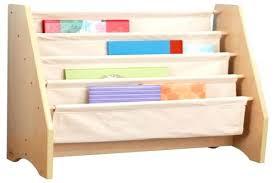 White Girls Bookcase Bookcase Kids Sling Bookshelf With Storage Bins White Kids Sling
