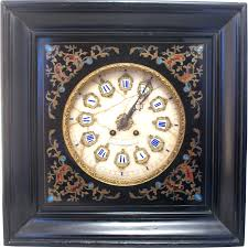 beautiful 19th century french oeil de boeuf wall clock with marble