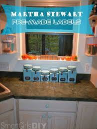 Martha Stewart Kitchen Canisters Pre Made Labels Sometimes Diy Isn U0027t The Answer