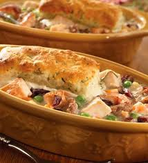 thanksgiving turkey pot pie with herb biscuit topping cbells