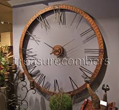 Copper Walls Xl 5 Foot Hammered Copper Wall Clock Oversized French Tuscan Old