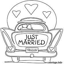 dessin mariage coloriage dessin voiture mariage dessin