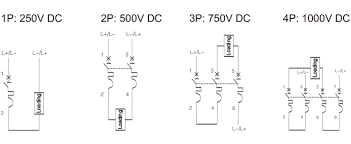 dc circuit breaker dedicated to multi string photovoltaic