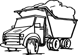 garbage truck coloring wecoloringpage