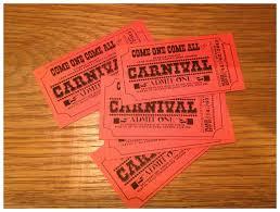 carnival wedding diy invitation tickets