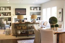 Living Room Console Tables Indsutrial Console Table Transitional Living Room