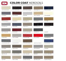sem color coat interior paint aerosols pints quarts