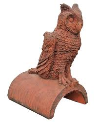 owl finials and ornamental ridge tiles for roofs