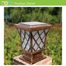 solar powered pillar lights outdoor main gate l solar powered pillar light buy high quality
