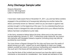 sample letters of admonishment member cancellations u0026 army discharges