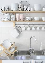 Small Kitchen Hacks Kitchen Make A Small Kitchen Look Larger Using The Right Colors